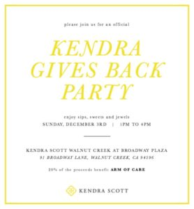 Kendra Scott gives back - a Benefit for ARM of Care @ Kendra Scott Walnut Creek at Broadway Plaza | Walnut Creek | California | United States
